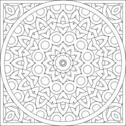 Simple Kaleidoscope Coloring Pages sketch template