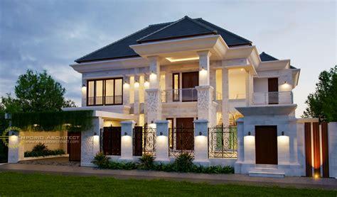 desain rumah mewah klasik tropis  jakarta jasa arsitek
