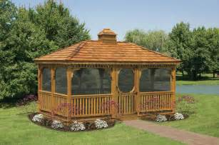 Wood Gazebo For Sale by Wood Rectangular Gazebos North Country Shedsnorth