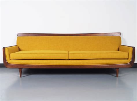 midcentury modern sectional mid century modern walnut sofa at 1stdibs
