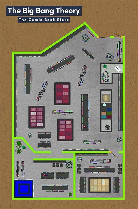 big bang theory floor plan floor plans famous tv and movie businesses bizdaq