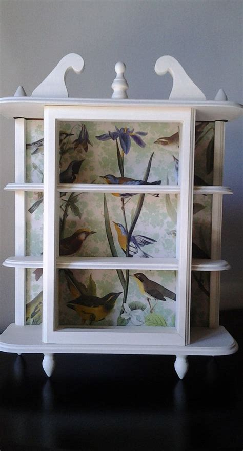 Decoupage Shelves - painted jewelry or trinket display shelf with