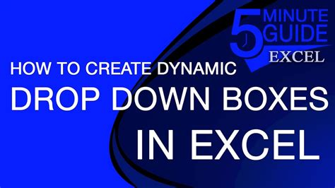 how to create dynamic changing drop down lists in excel
