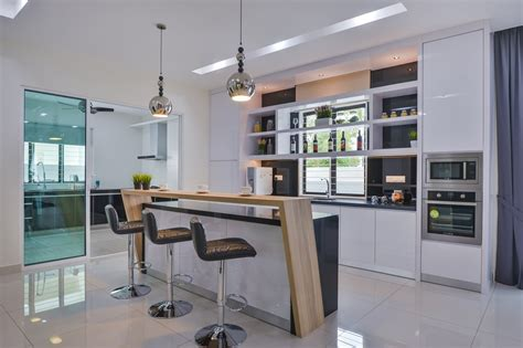 wet and dry kitchen design home design plan surface r creates a contemporary interior for a aman