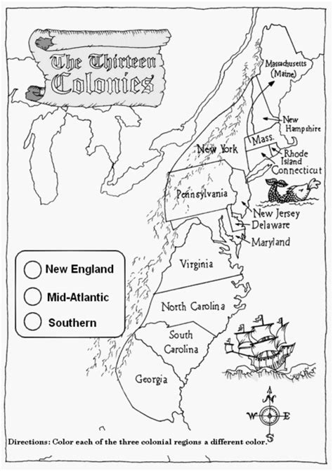 13 Colonies Worksheets by Blank Map Middle Colonies