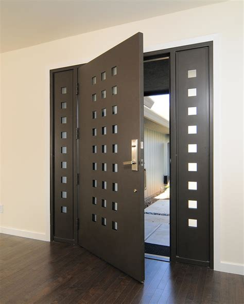 modern door designs modern entrance door design with brown wooden frosted