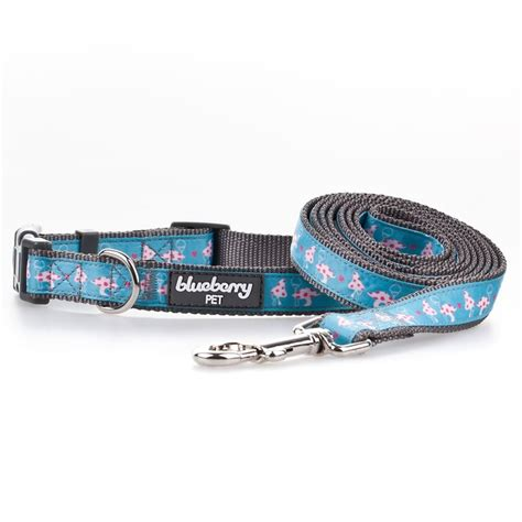 triangle pattern dog collar blueberry pet vibrant triangle floral garden and mushroom