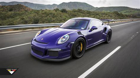 porsche purple audi vorsteiner porsche 991 gt3 rs purple beast