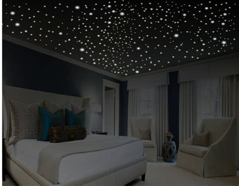 glow in the dark bedroom decor glow in the dark stars romantic bedroom decor by wallcrafters
