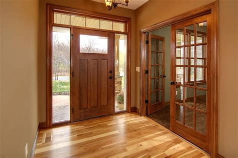 hickory floor cherry stained doors and trim for the home the office colors