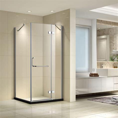 seesuu tempered glass shower enclosure corner shower doors