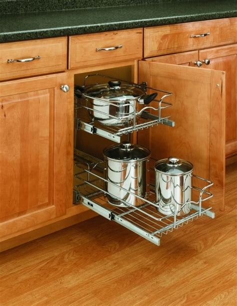 rev a shelf 18 in corner cabinet pull out chrome 3 tier rev a shelf 5wb2 0918 cr chrome 5wb series 9 quot wide by 18