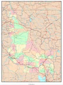 idaho towns map idaho political map