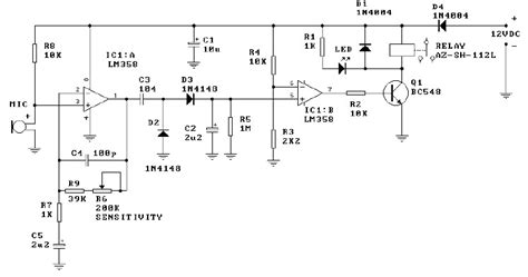 Saklar Elektronik skema rangkaian saklar suara elektronika elektronika kontrol