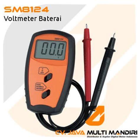 Baterai Multimeter voltmeter baterai amtast sm8124 digital meter indonesia