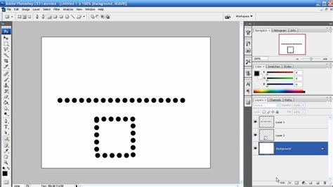 Rectangle Outline Photoshop Cs5 by Photoshop Tutorial Episode 25 Dotted Dashed Line