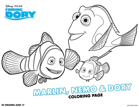 dory fish coloring page finding dory coloring pages on coloring ディズニーキャラクターの