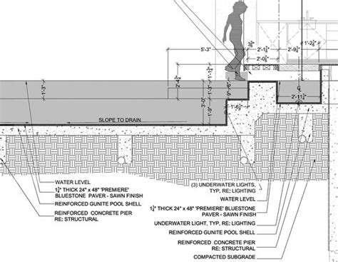 Section 6 Swimming by Pool Detail Drawing By Http Www Lifeofanarchitect