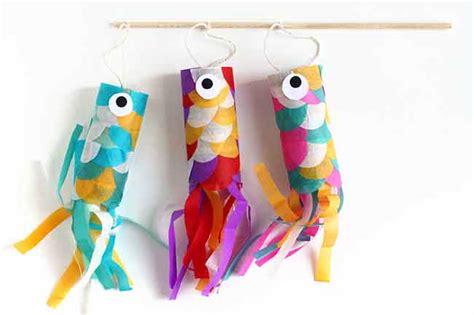 imagenes manualidades japonesas manualidad divertida crear carpas de colores