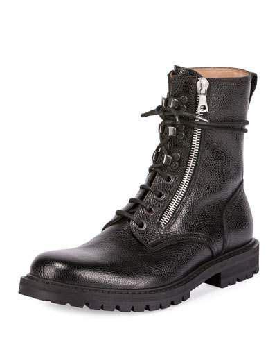 dries noten s leather side zip combat boot black driesvannoten shoes boots dries