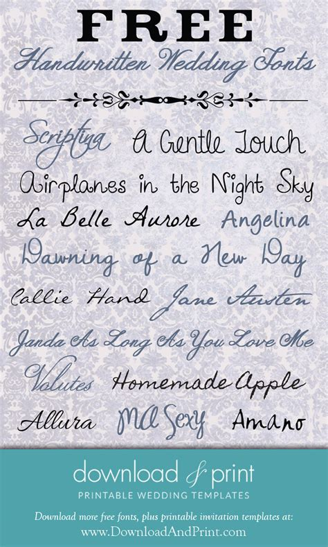 free printable wedding fonts free handwritten wedding fonts download and print