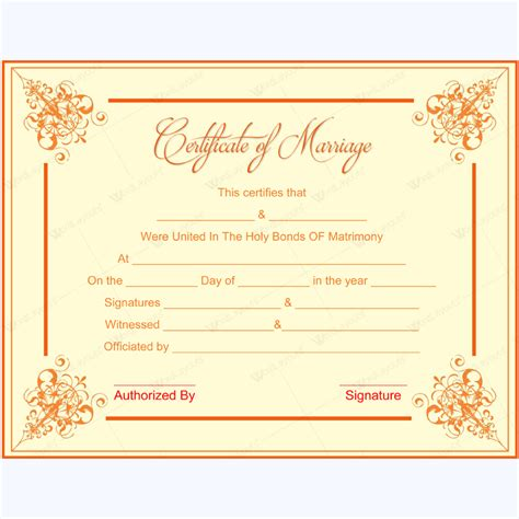design certificate format formal design marriage certificate format