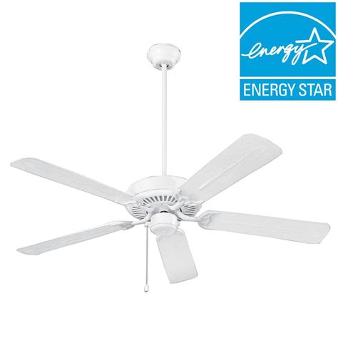 home depot wet rated ceiling fans nutone wet rated series 52 in outdoor white ceiling fan