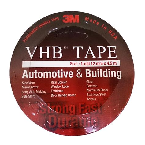 Doube 3m 12mm X45 3m vhb automotive 4900 tebal 1 1 mm size
