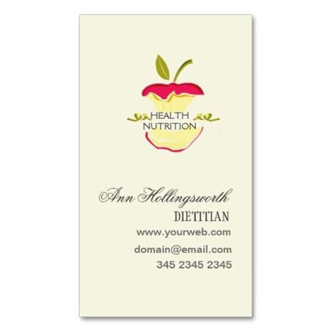 nutritionist business card templates 271 best images about nutritionist business cards on