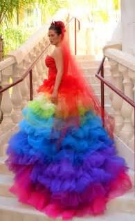 rainbow wedding dress rainbow wedding pinterest