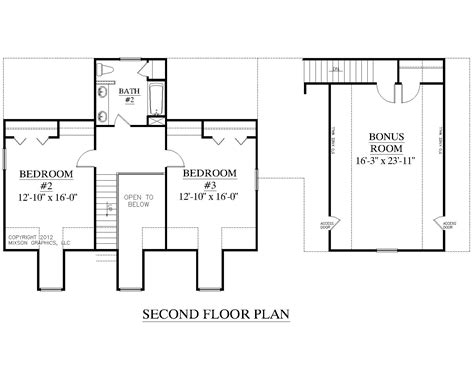 House Plan 2091 B Mayfield Quot B Quot Second Floor Plan Two Storey House Plans With Kitchen Upstairs