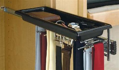 Pull Out Belt Rack by Pull Out Tie Belt Rack With Tray Tbc 14tcr