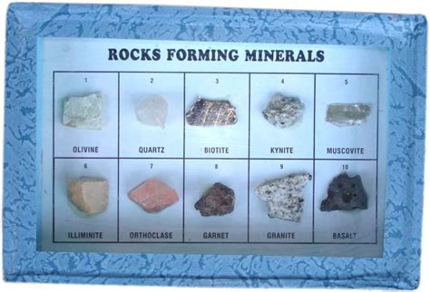 a key for identification of rock forming minerals in thin section books collection of 10 rocks forming minerals