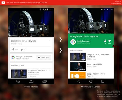 concept design youtube youtube android material design redesign concept viewout