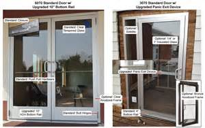 Store Front Glass Doors Commercial Glass Storefront Door Options And Features