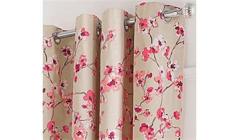 pink flower curtains floral curtains with contrast edge pink home garden