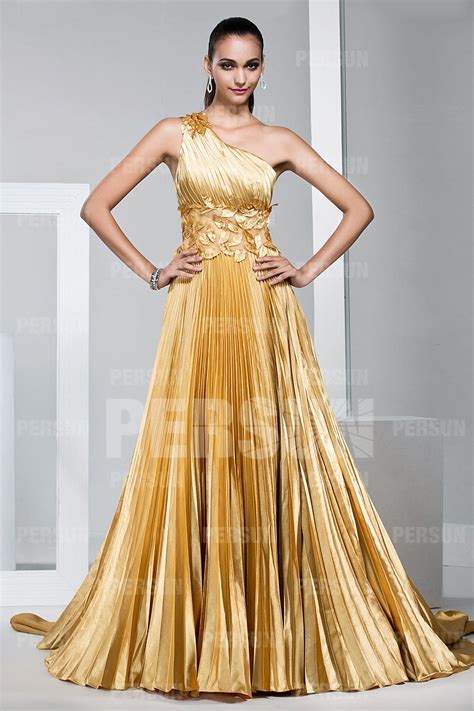 Gorgeous One Shoulder Dresses by Yellow Gorgeous One Shoulder Prom Evening Dress Ppda0010