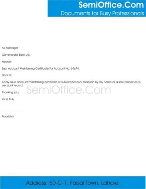 Request Letter Format For Bank Account Opening Related Posts