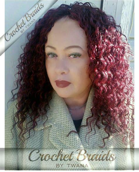 freetress bohemian color 99j crochet braids featuring freetress deep twist in color 99j