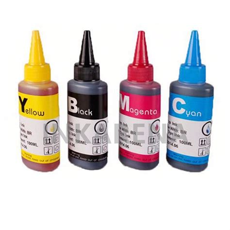 Premium Ink 100ml Cannon universal 4 color dye ink for hp refill ink kit 100ml bottle for epson premium general for canon