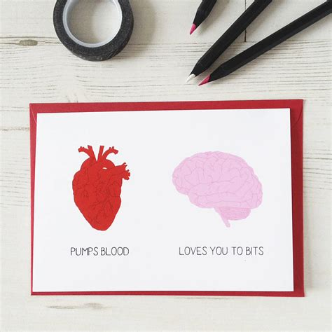 and brain unromantic valentines card by newton and