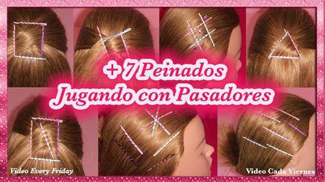 peinados  cabello corto  pasadores  easy