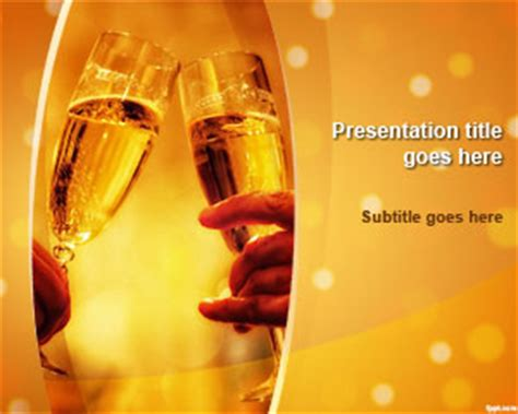 free champagne celebration powerpoint template