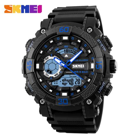 Skmei Casual Colorful Army Water Resistant 30m 9133c skmei 1228 digital sports wristwatches water resistant waterproof chronograph alarm clock