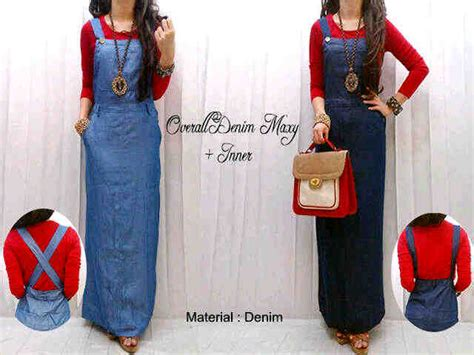 Overall Iner capria outlet overall denim maxi inner