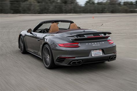 porsche convertible 2017 porsche 911 turbo cabriolet test the