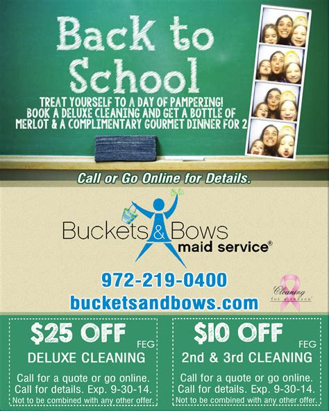 house cleaning specials maid service coupons gift