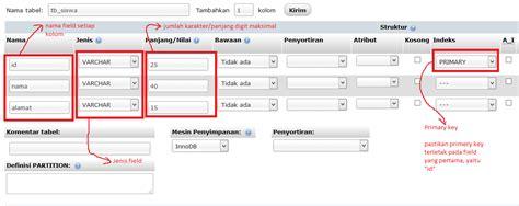 cara membuat database siswa di xp cara membuat database mysql di phpmyadmin joncode
