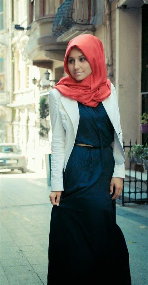 20 contoh model blazer wanita muslimah modis dan modern terbaik