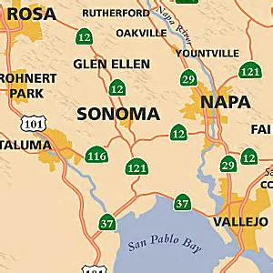map of northern california wine country california wine country tour map pictures to pin on